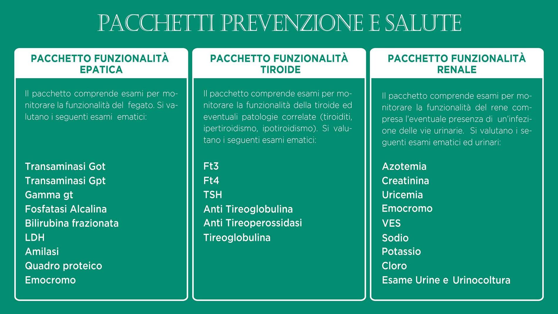 Pacchetto prevenzione e salute 1