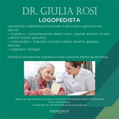 Nuovo servizio di Logopedia presso la sede di Umbertide